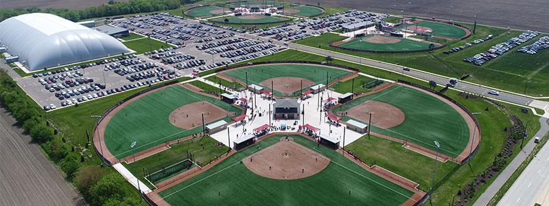 Louisville Slugger Sports Complex Aerial
